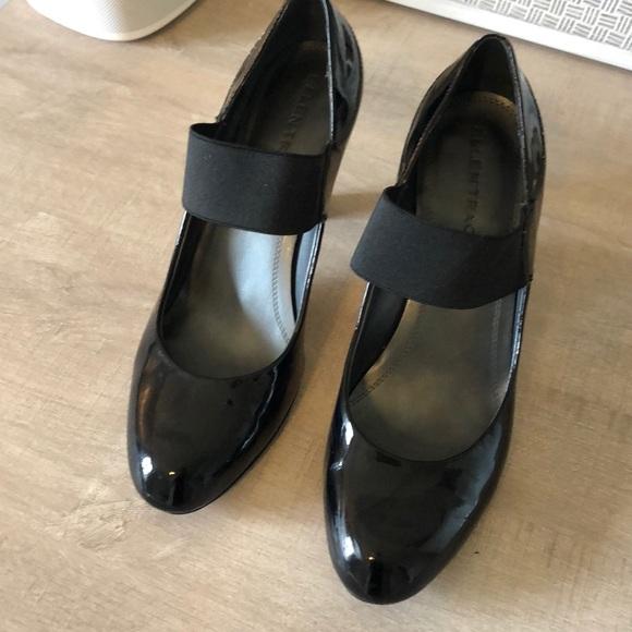 c7d962968883 Ellen Tracy Shoes - Flapper Retro 20s Black Patent Leather Pumps
